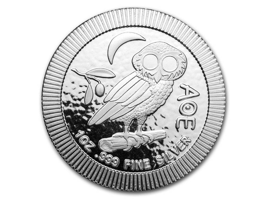 2021 niue 1 oz silver 2 athenian owl stackable coin 225986 obv