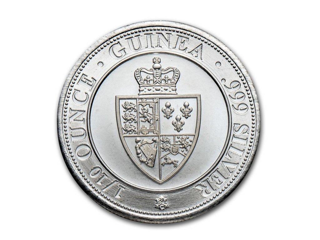 2020 saint helena 1 10 oz silver spade guinea shield bu 225294 obv