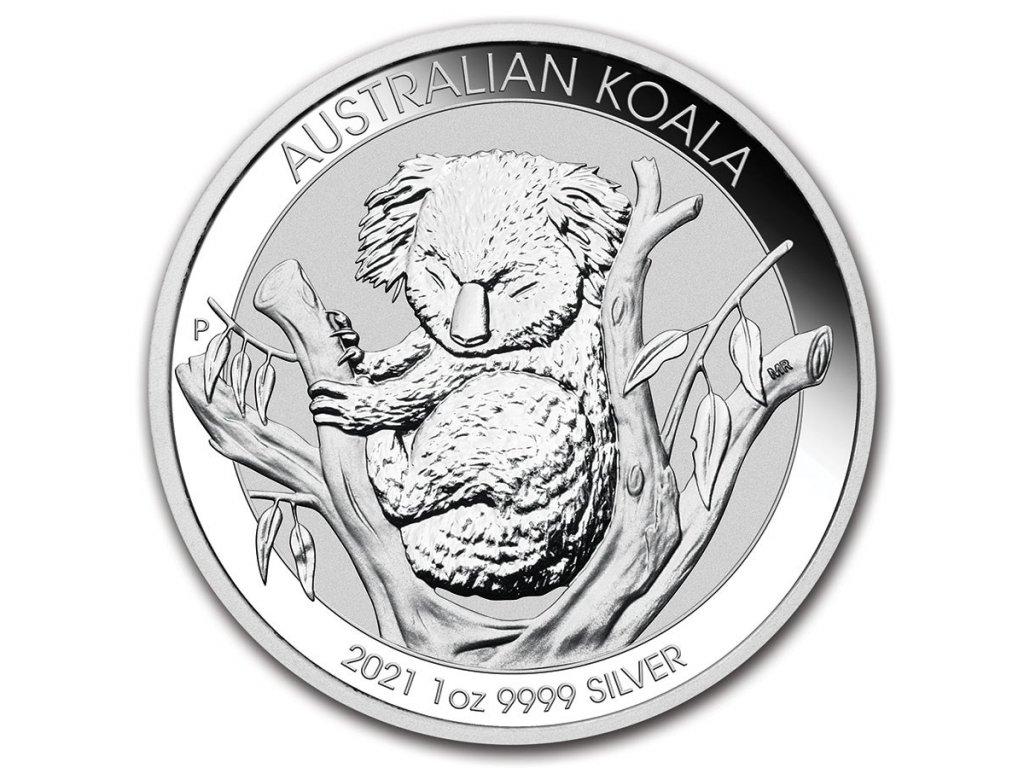 2021 australia 1 oz silver koala bu 218836 slab
