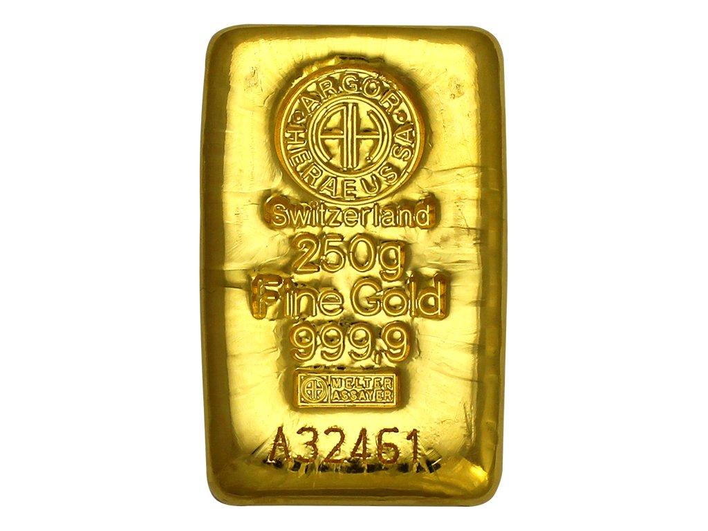 001004 250g argor heraeus sa svycarsko investicni zlaty slitek 01 det