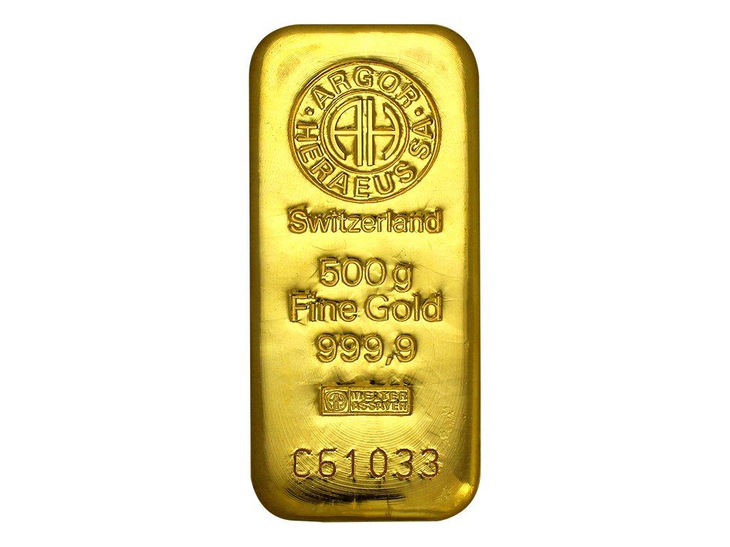 001005 500g argor heraeus sa svycarsko investicni zlaty slitek 01 det
