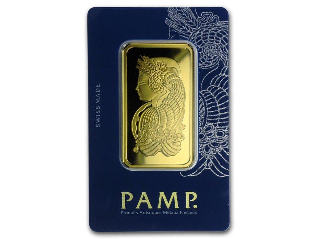 50 gram gold bar pamp suisse fortuna veriscan in assay 98930 Slab