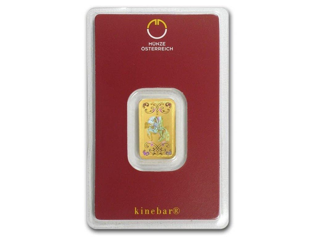 5 gram gold bar austrian mint kinebar design in assay 78372 slab