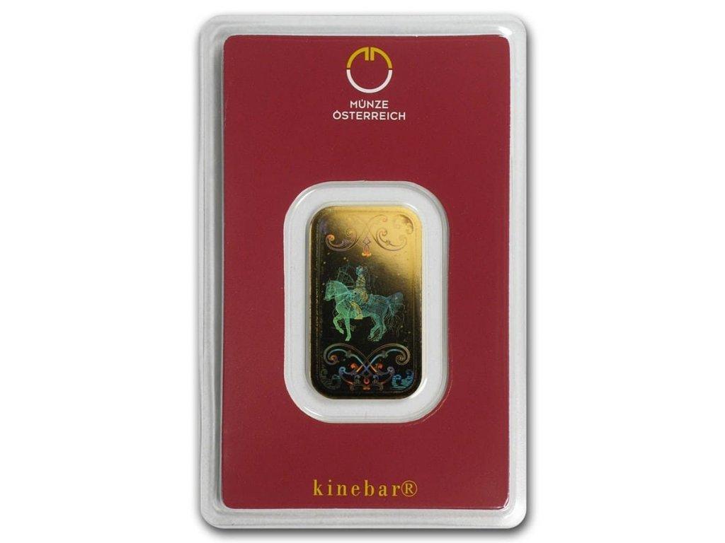 10 gram gold bar austrian mint kinebar design in assay 78374 Slab