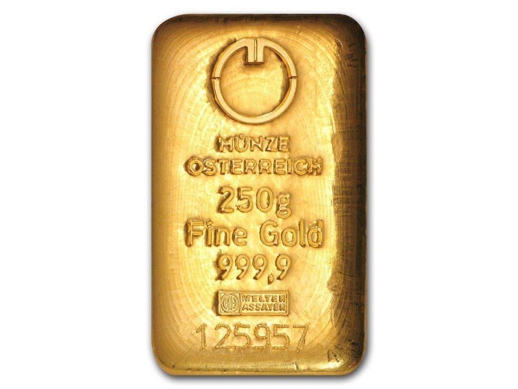 250 gram gold bar austrian mint cast 78385 Obv