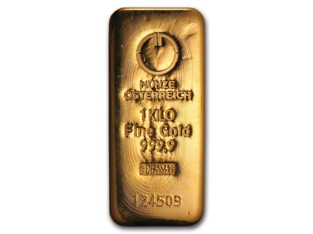 1000 gram gold bar austrian mint cast 78387 Obv