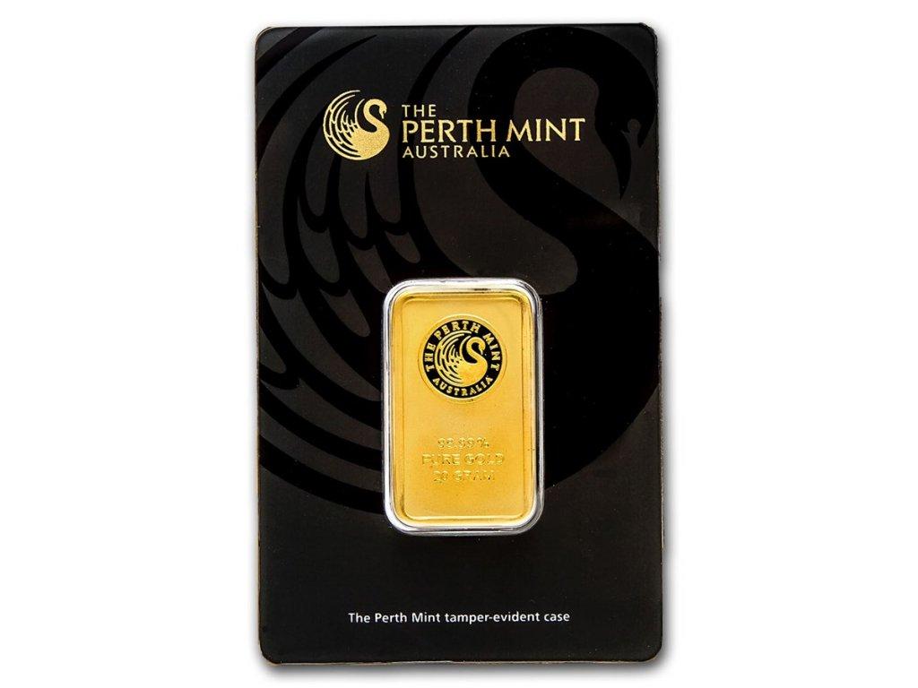 20 gram gold bar the perth mint in assay 57161 Slab