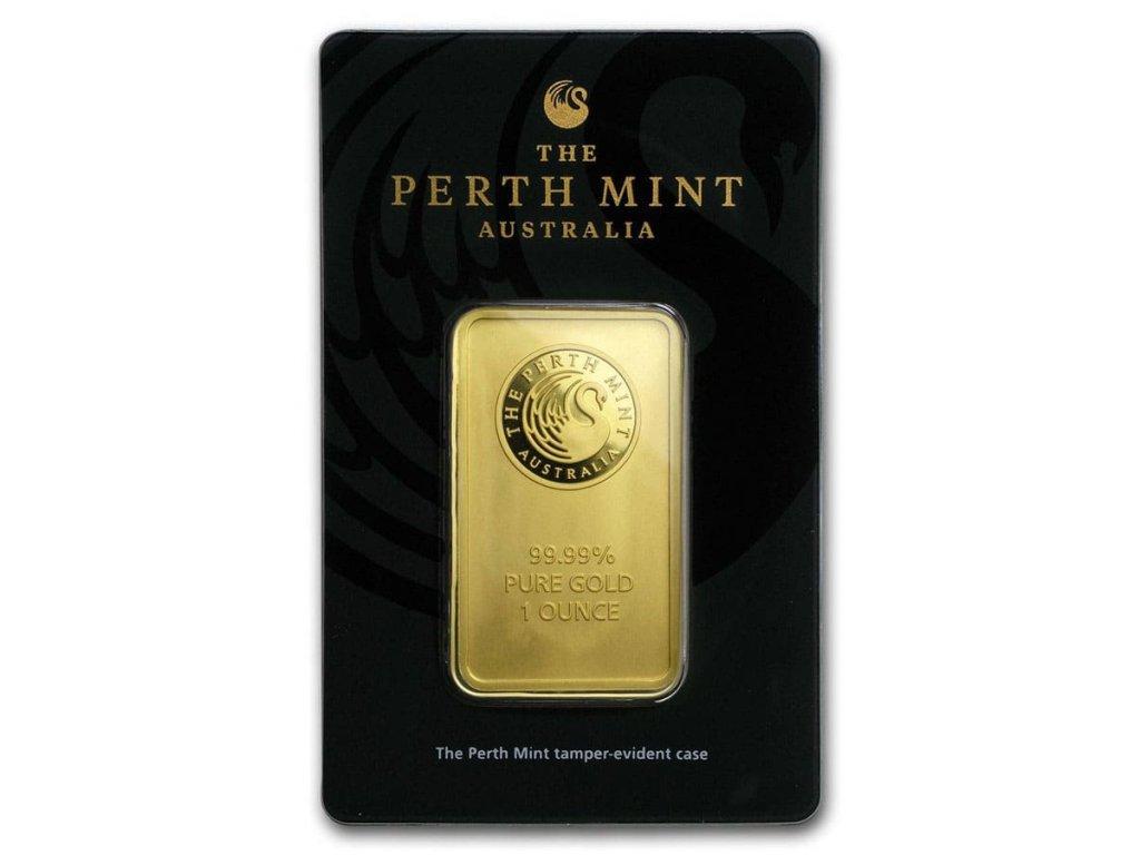 1 oz perth mint gold bar in assay 57159 slab