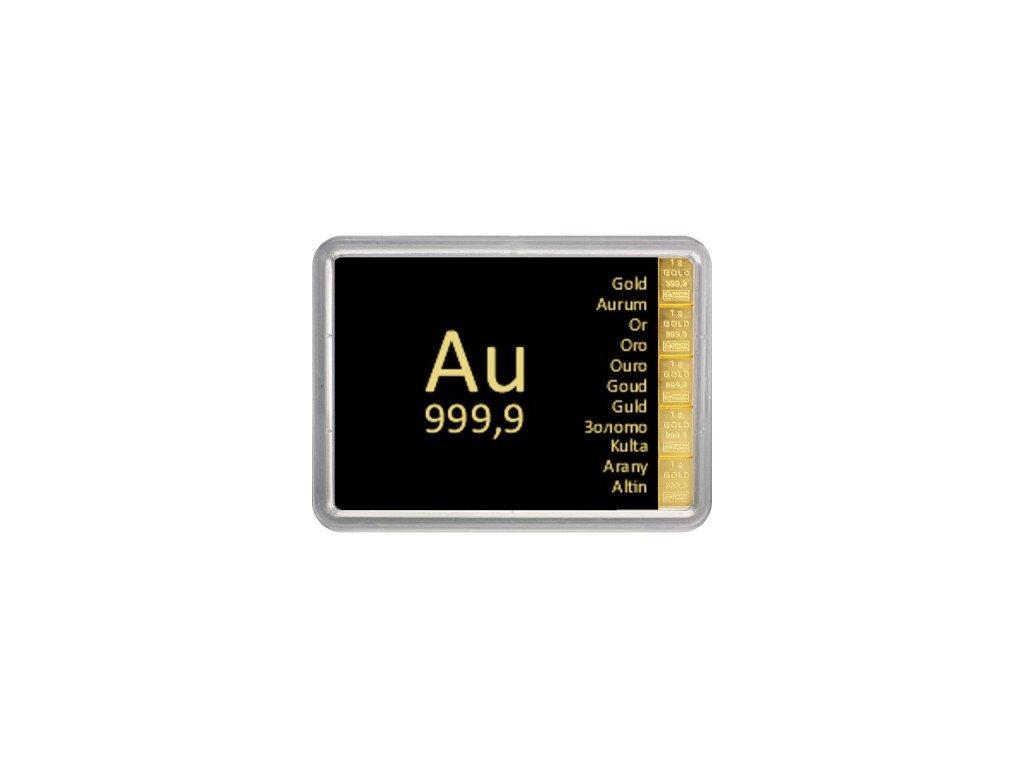 5x1 gramm gold tafelbarren