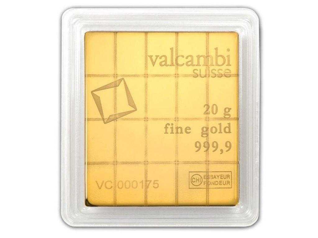 20 x 1 gram gold valcambi combibar in assay 81533 Rev