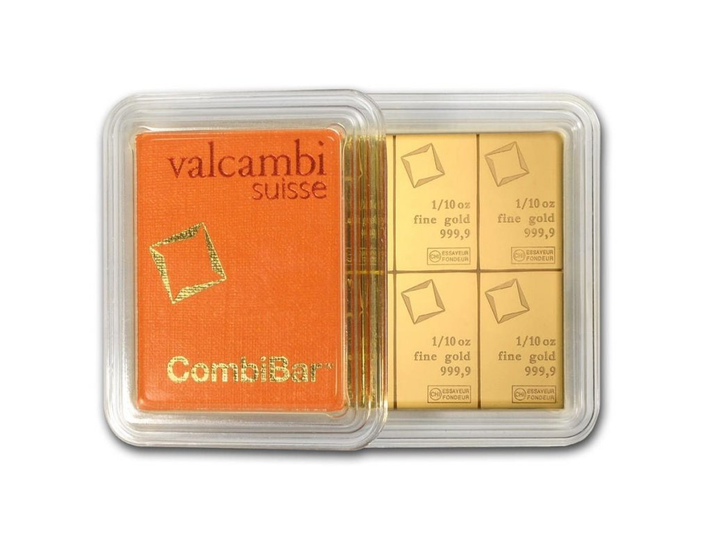 10 x 1 10 oz gold valcambi combibar in assay 83827 Rev