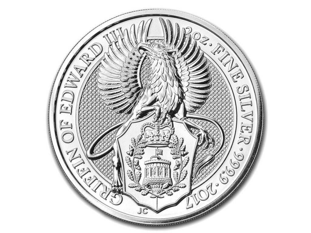 2017 great britain 2 oz silver queens beasts the griffin 104275 Slab
