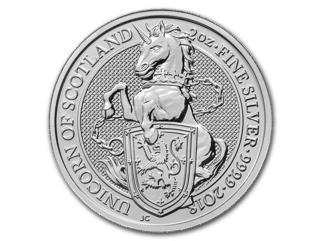 2018 great britain 2 oz silver queens beasts the unicorn 152535 slab