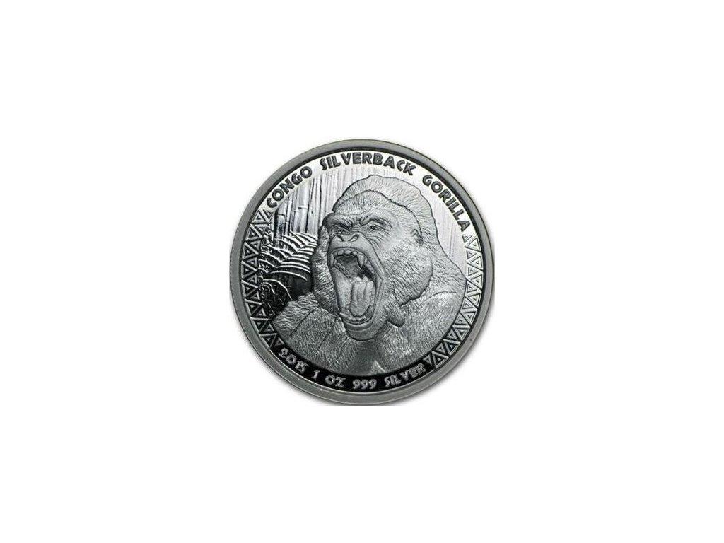 1 oz silver gorilla congo 2015
