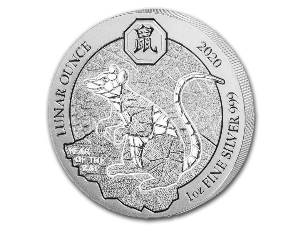 2020 rwanda 1 oz silver lunar year of the rat bu 197765 Obv