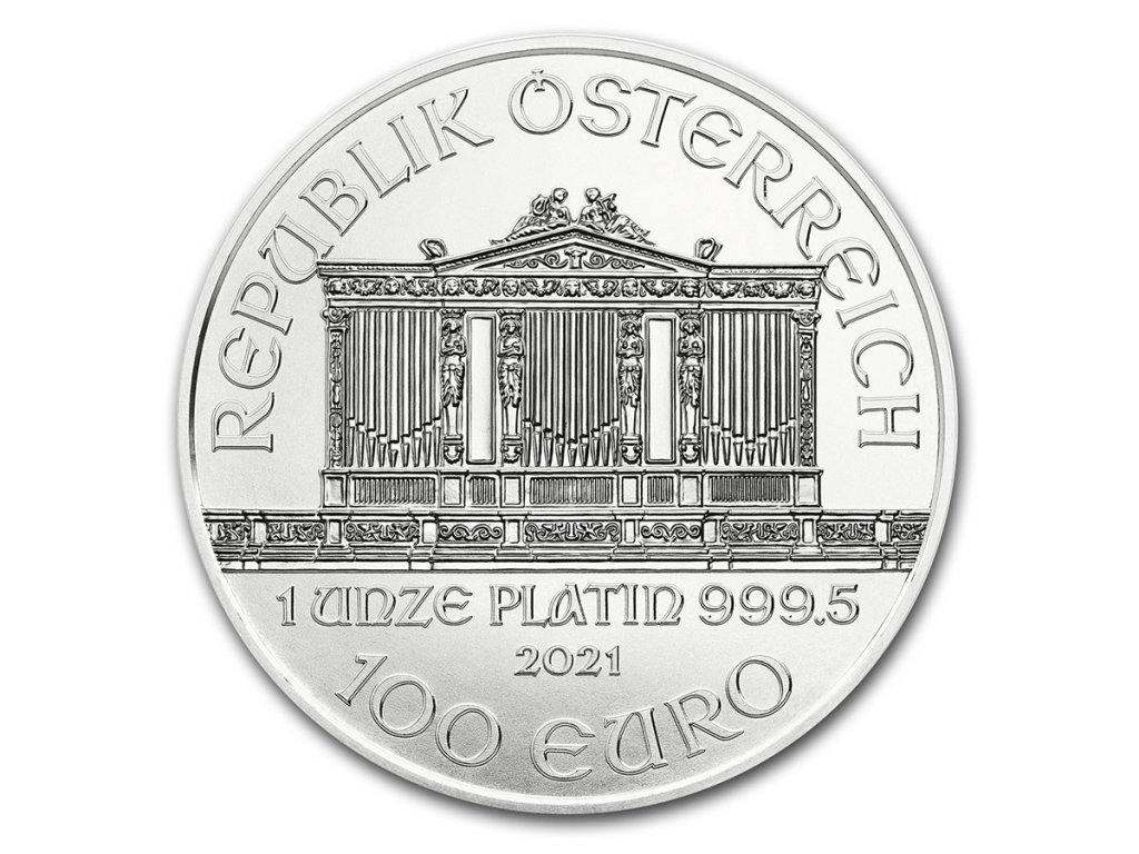 2021 austria 1 oz platinum philharmonic bu 224922 rev