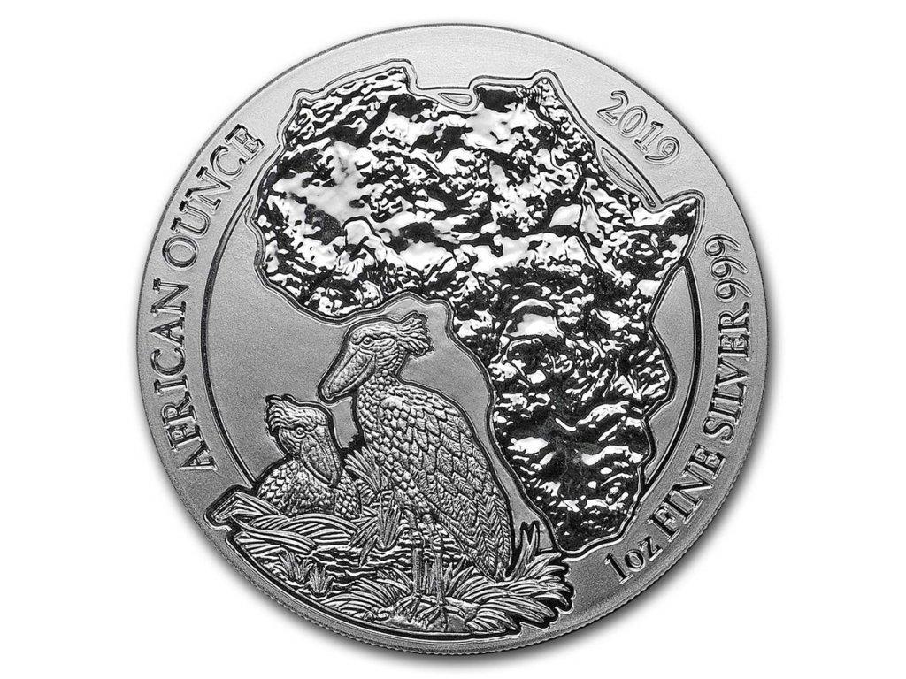 2019 rwanda 1 oz silver african shoebill bu 172118 slab