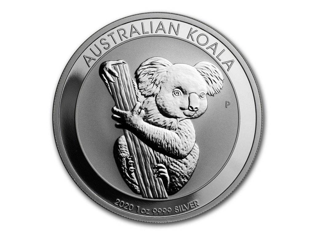 2020 australia 1 oz silver koala bu 198724 slab