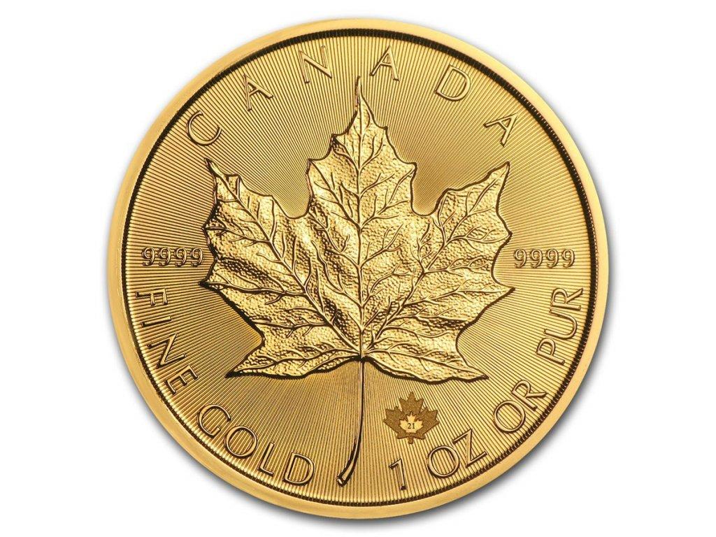 2021 canada 1 oz gold maple leaf bu 218737 slab