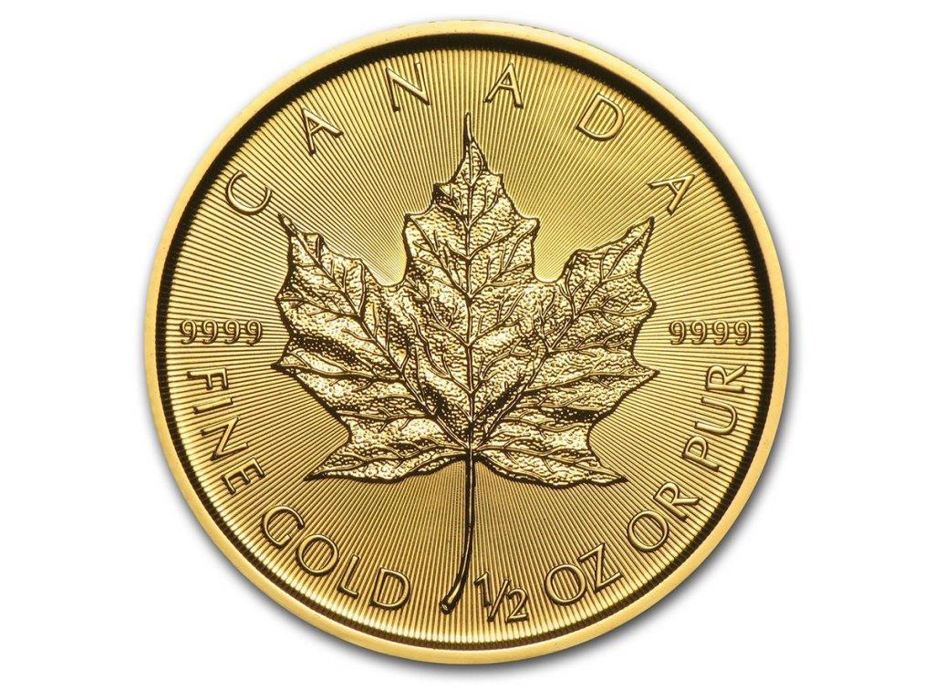 2021 canada 1 2 oz gold maple leaf bu 224957 slab