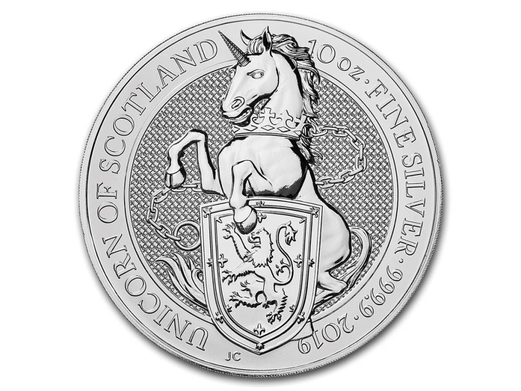 2019 great britain 10 oz silver queens beasts the unicorn 173334 slab