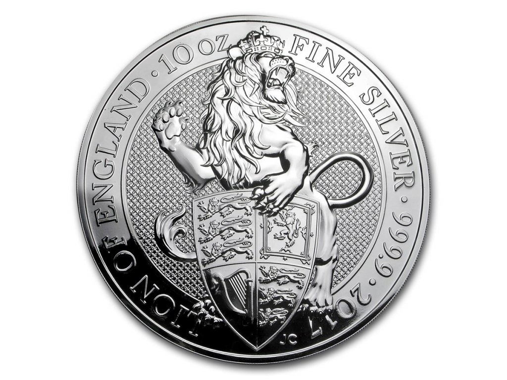 2017 great britain 10 oz silver queens beasts the lion 117679 Obv