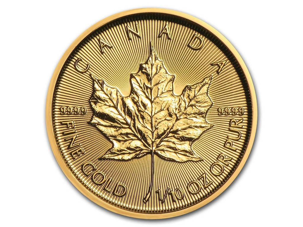 2021 canada 1 10 oz gold maple leaf bu 224959 slab