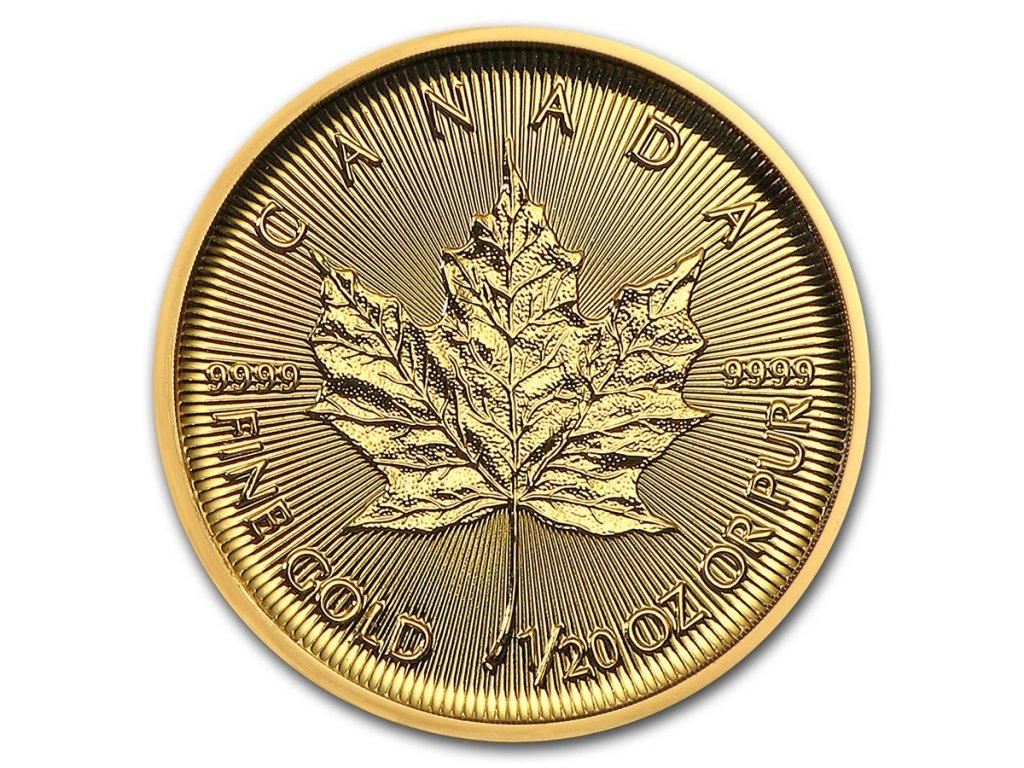 2021 canada 1 20 oz gold maple leaf bu 224960 slab