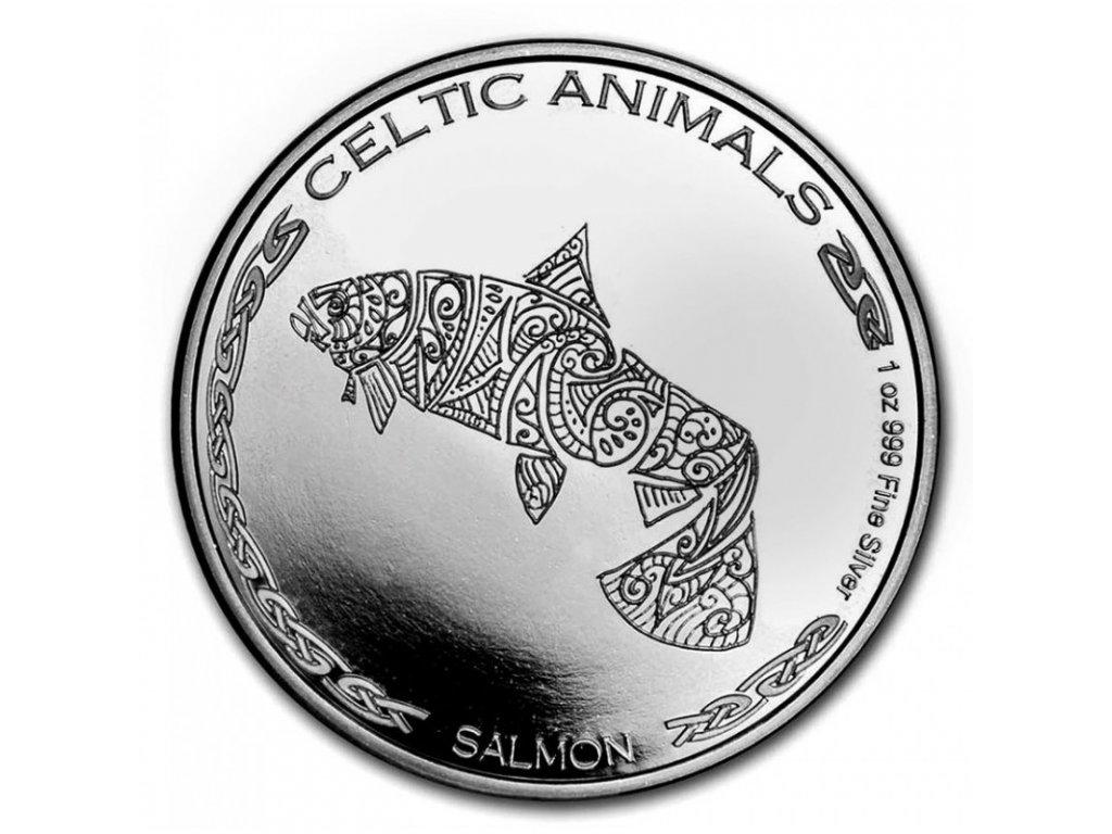 chad 1 oz silver celtic animals 2021 salmon cfa500