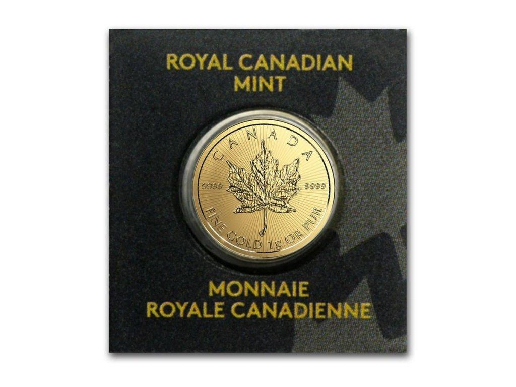1 gram gold maple leaf maplegram 25 in assay random year 85582 Slab