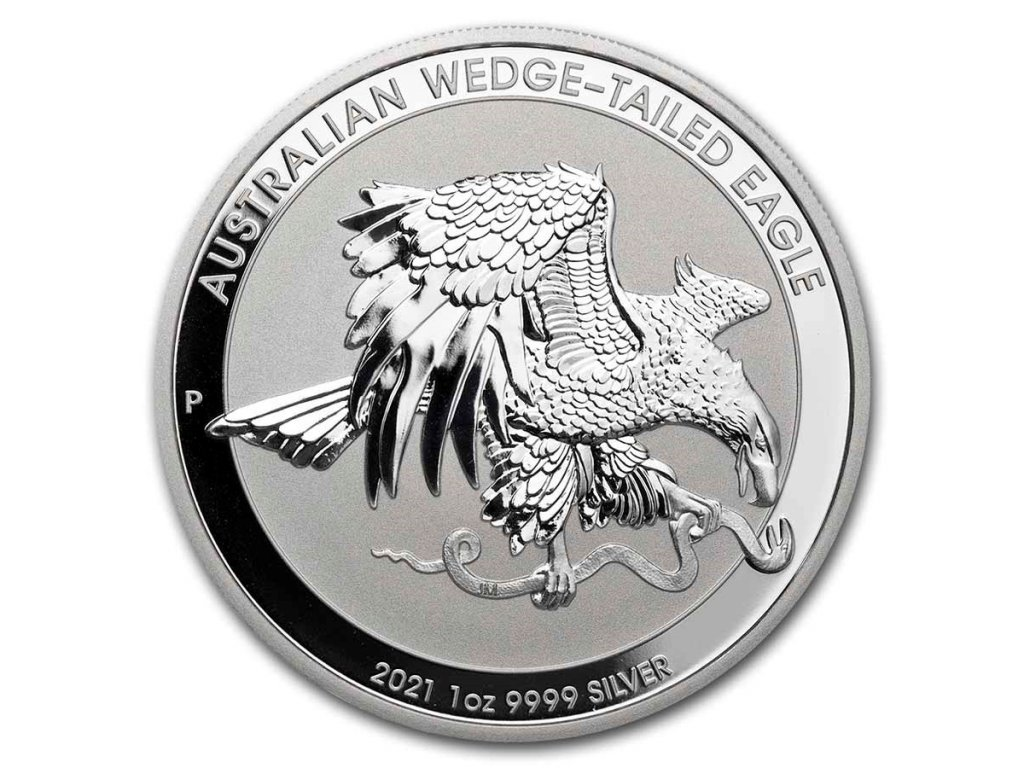 2021 australia 1 oz silver wedge tailed eagle bu 228298 obv