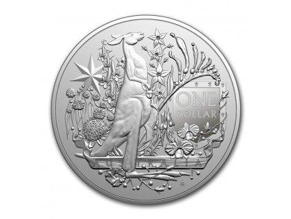 2021 australia 1 oz silver 1 00 coat of arms bu 228605 obv