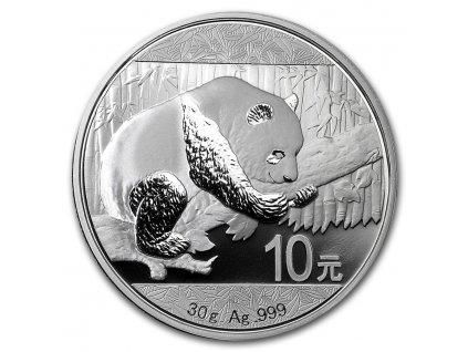 2016 china 30 gram silver panda bu in capsule 92384 Slab