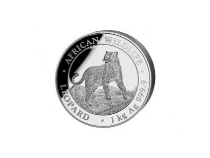1 kilo silver somalia leopard 2021 shillings 2 000