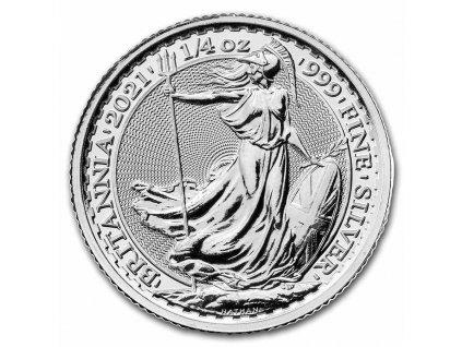 2021 great britain 1 4 oz silver britannia bu 231589 obv