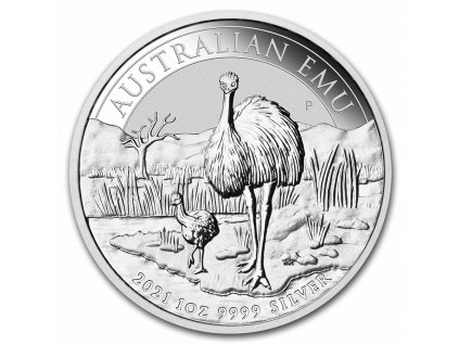 2021 australia 1 oz silver emu bu 233087 slab