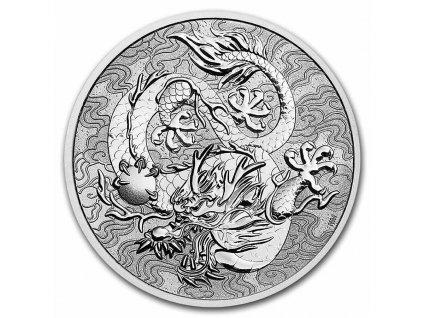2021 australia myths legends 1 oz silver dragon bu 233414 slab
