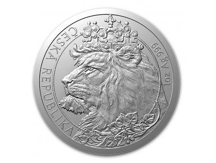 2021 niue 1 oz silver czech lion bu 228105 slab