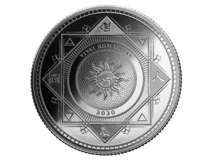 2020 1oz tokelau silver vivat humanitas coin bullion bu reverse