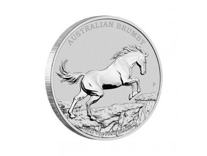 1 oz silver australian brumby horse 2021 1