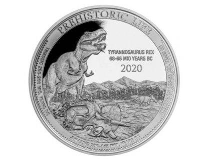 1 unze silber kongo prehistorical life t rex 2020 vs