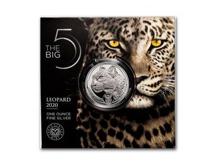 2020 south africa 1 oz silver big five leopard bu 225341 rev