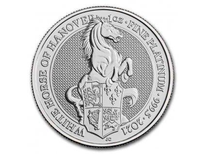 2021 great britain 1 oz platinum queens beast the white horse 229848 slab