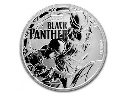 2018 tuvalu 1 oz silver 1 marvel series black panther bu 159743 Obv