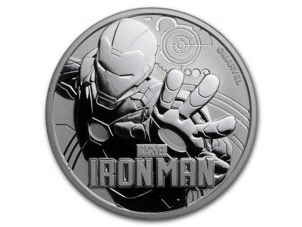 2018 tuvalu 1 oz silver 1 marvel series iron man bu 168066 Obv