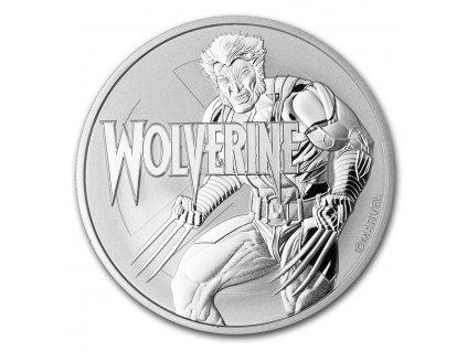 2021 tuvalu 1 oz silver 1 marvel series wolverine bu 224874 obv