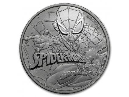 2017 tuvalu 1 oz silver 1 marvel series spiderman bu 151572 Slab
