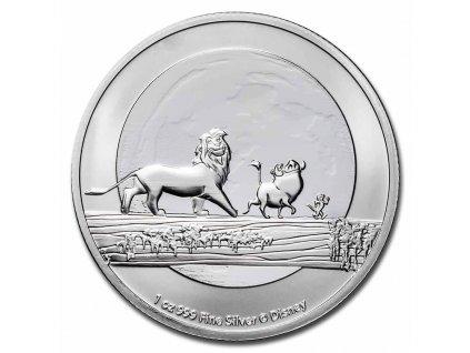 2021 niue 1 oz silver 2 disney lion king hakuna matata bu 230387 obv