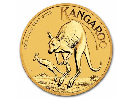 2021 australia 1 4 oz gold kangaroo bu 217667 slab