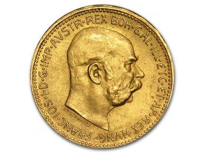 1915 austria gold 20 corona bu restrike 26408 Rev